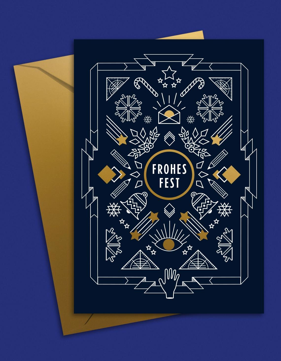 Goldener Westen X-Mas Card